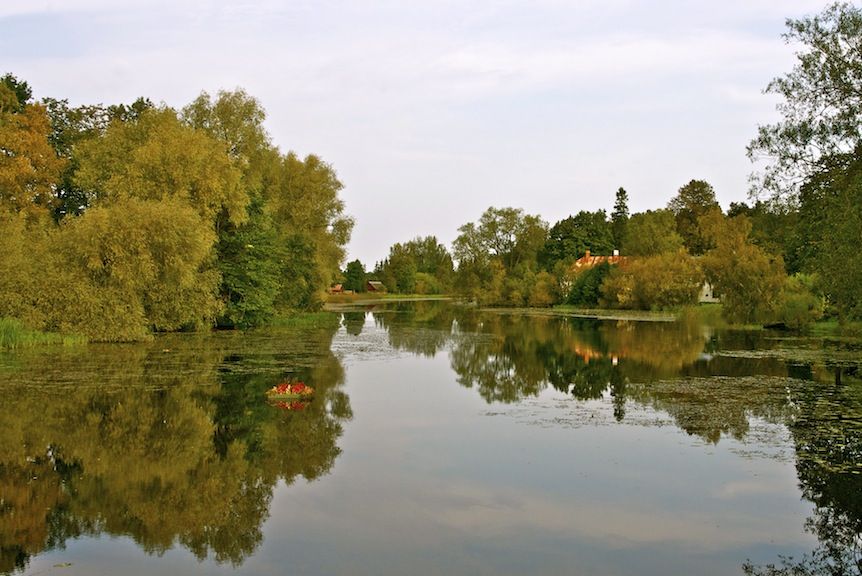Early autumn in Sordi. Pedja river.
