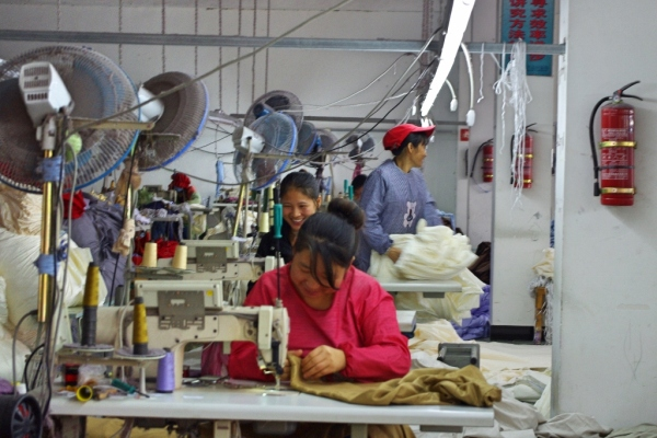 Textile factory in China